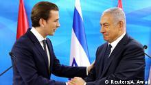 Israel österreichischer Kanzler Sebastian Kurz trifft Ministerpräsident Benjamin Netanyahu