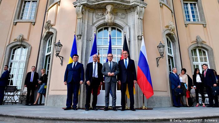 Павел Климкин, Жан-Ив Ле Дриан, Хайко Мас и Сергей Лавров