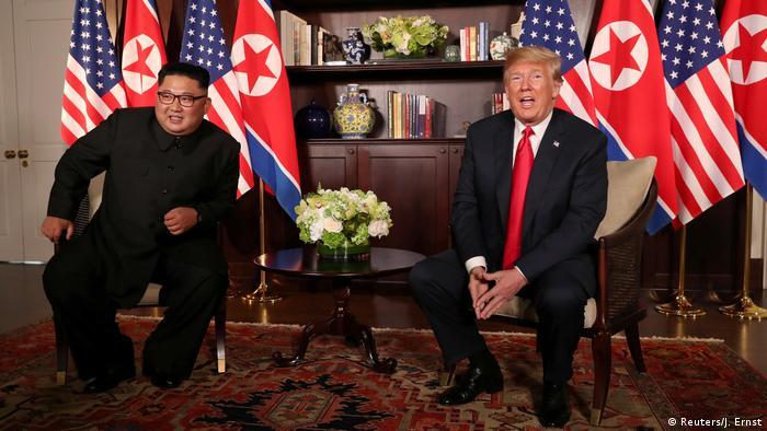 Singapur Sentosa USA-Nordkorea Gipfel Statements (Reuters/J. Ernst)