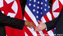 Kim Jong Un und Donald Trump Treffen