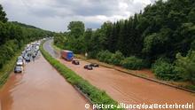 BdT - Überflutete Straßen im Saarland