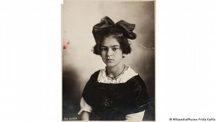 Portrait of Frida Kahlo as a child by Guillermo Kahlo (Wikipedia/Museo Frida Kahlo)