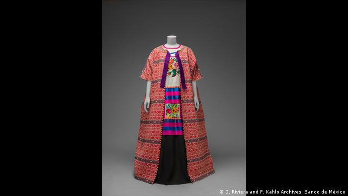 Guatemalan cotton coat worn with Mazatec huipil and plain floorlength (D. Riviera and F. Kahlo Archives, Banco de México)
