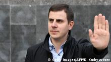 Robert Ustian, 34, head of CSKA Fans Against Racism monitoring group, poses during an AFP interview in Moscow on May 4, 2018. - Robert Ustian knows that neo-Nazi hooligans who have run riot over Russian football for decades can take him out on any given day. The 34-year-old CSKA Moscow supporter sends out handfuls of secret spotters to the Red Army club's matches to chronicle racist abuse. Ustian then forwards the videos of booming Nazi salutes and chilling Waffen-SS banners to the authorities -- and waits to see what might befall him next. (Photo by Kirill KUDRYAVTSEV / AFP) (Photo credit should read KIRILL KUDRYAVTSEV/AFP/Getty Images)