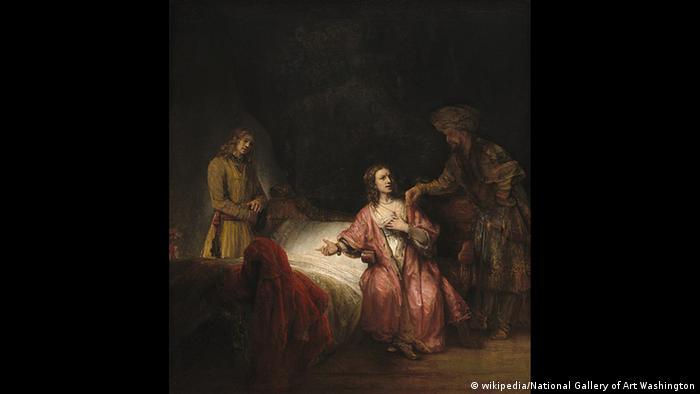 Joseph und die Frau des Potiphar Gemälde von Rembrandt (wikipedia/National Gallery of Art Washington)