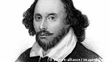 William Shakespeare, English poet and playwright, (c1850). Portrait of Shakespeare (1564-1616), widely regarded as the greatest writer of the English language. Taken from the book Old England's Worthies, London, c1850.