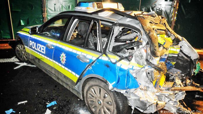 Поліцейський автомобіль після ДТП 27 грудня 2017 року