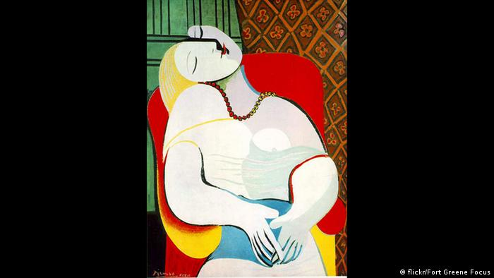 Picasso painting of a female figure asleep in a chair (flickr/Fort Greene Focus)