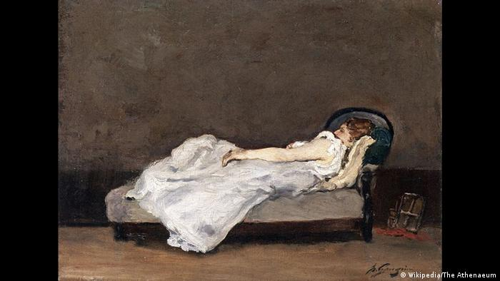 Painting of a girls lying on a sofa (Wikipedia/The Athenaeum)