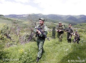 Пограничные подразделения в Южной Осетии