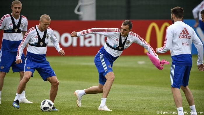 Fußball WM Team Russland Training