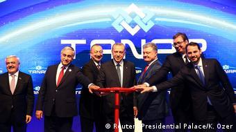 افتتاح پروژه خط لوله تاناپ توسط روسای جمهوری ترکیه، اوکراین، صربستان و آذربایجان در سال ۲۰۱۸