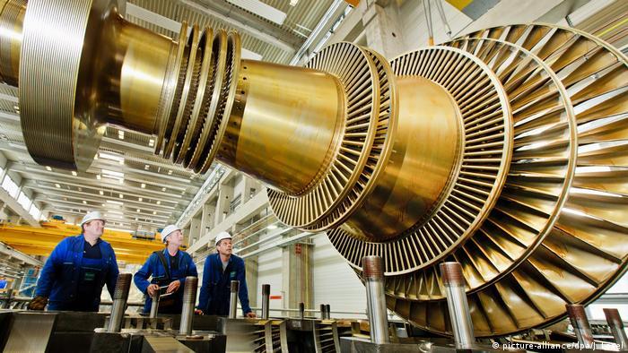 Turbine in factory