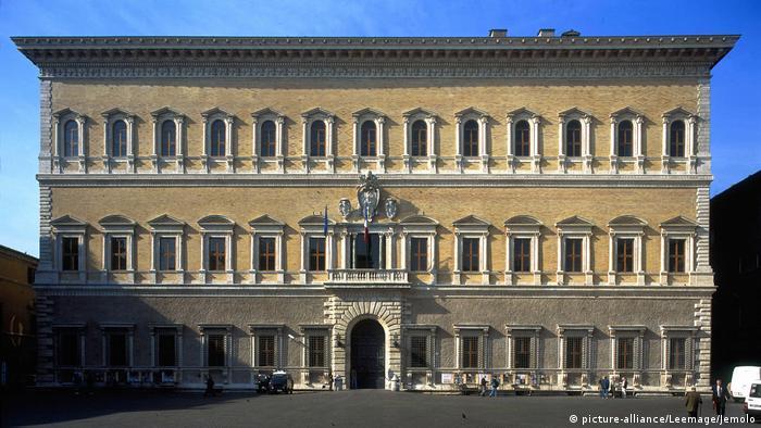 El Palazzo Farnese es la sede de la embajada de Francia en Roma