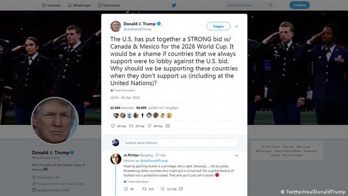 Tweet von Donald Trump (Twitter/realDonaldTrump)
