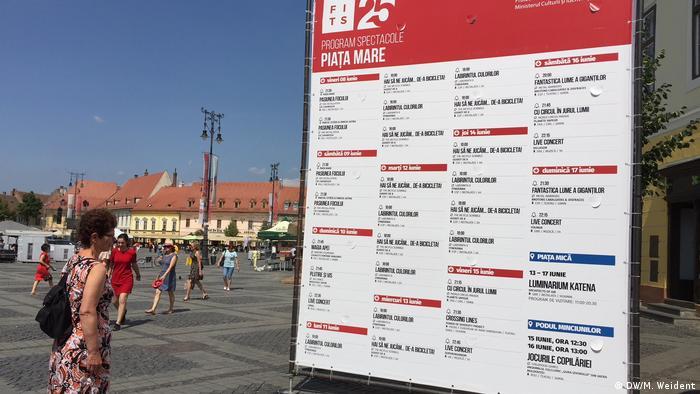 Theater-Plakat in Hermannstadt