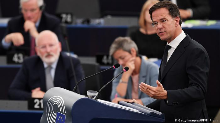 Mark Rutte at the European Parliament (Getty Images/AFP/F. Florin)