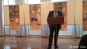 Стефан Димитров на откриването на изложбата