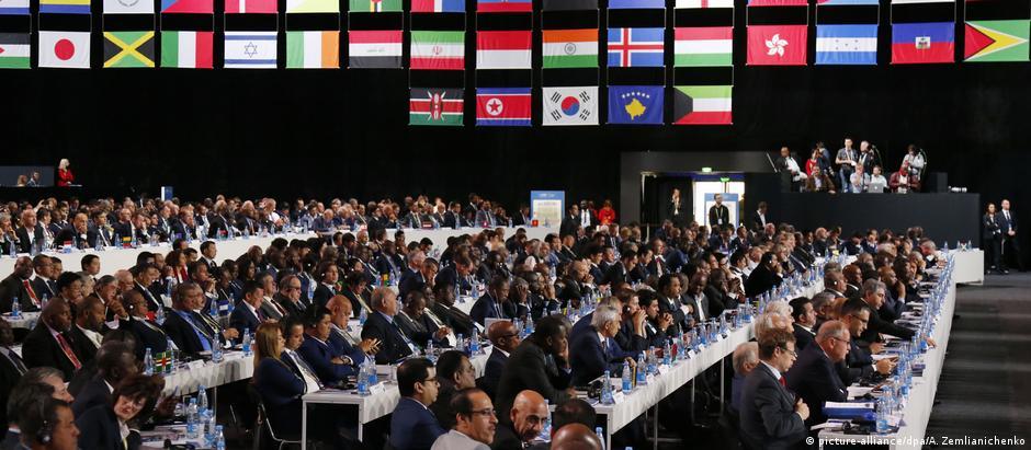 Congresso da Fifa em Moscou: apoio amplo à candidatura norte-americana