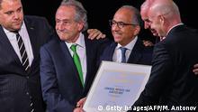 Russland Moskau - Jubel nach bekanntgebung des Zukünftigen FIFA Gastgebers USA