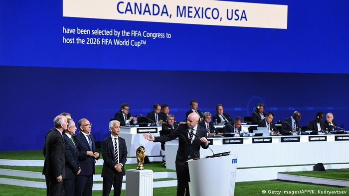 FIFA-Kongress wählt Kanada, USA, Mexiko zu WM-Ausrichtern für 2026