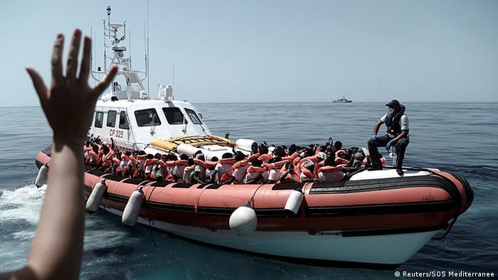 Mittelmeer MV Aquarius Rettungsaktion (Reuters/SOS Mediterranee)