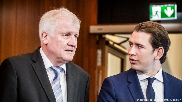 Innenminister Horst Seehofer trifft Sebastian Kurz