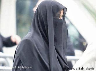 Woman with burka