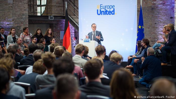 """Szef niemieckiej dyplomacji Heiko Maas podczas """"Dialogu z obywatelami"""""""