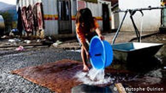 Bilder vom Auffanglager für Roma in Mitrovica, Kosovo