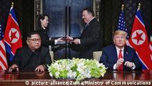 Singapur USA-Nordkorea Gipfel Trump Pompeo