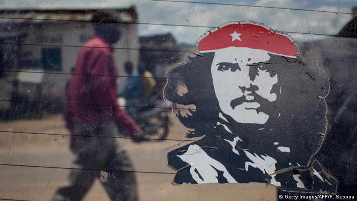 Demokratische Republik Kongo Che Guevara Aufkleber (Getty Images/AFP/F. Scoppa)