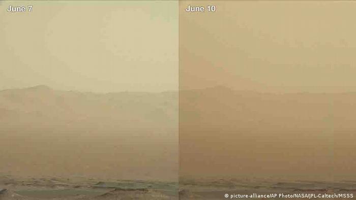 Mars Rover Sandsturm