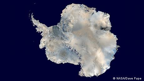 Satellite photo of Antarctica
