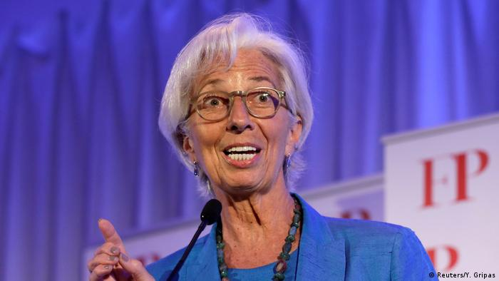 Head of the IMF Christine Lagrde in Washington, DC