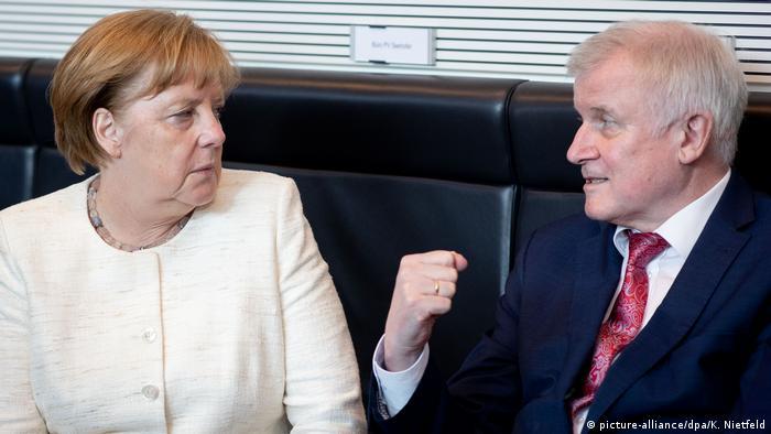 Unions-Fraktionssitzung Angela Merkel Horst Seehofer