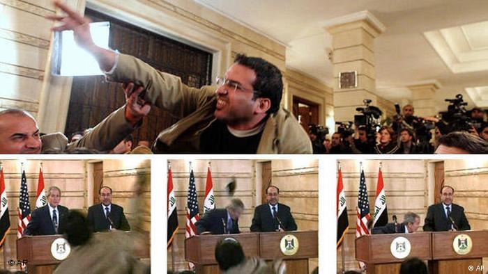 Bildergalerie Irak Schuhwerfer Kombo (AP)