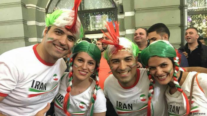 هواداران ایران در خیابانهای مرکزی مسکو