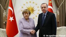 Turkish President Recep Tayyip Erdogan and Germany Prime Minister Angela Merkel meets at Presidential Palace, Ankara, Turkey. PUBLICATIONxINxGERxSUIxAUTxHUNxONLY DepoPhotos_15616102 Turkish President Recep Tayyip Erdogan and Germany Prime Ministers Angela Merkel Meets AT Presidential Palace Ankara Turkey PUBLICATIONxINxGERxSUIxAUTxHUNxONLY DepoPhotos_15616102