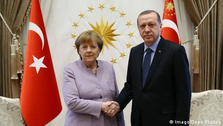 Chancellor Angela Merkel and Turkish President Recep Tayyip Erdogan meeting in Ankara