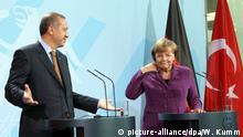 Erdogan and Merkel (picture-alliance/dpa/W. Kumm)