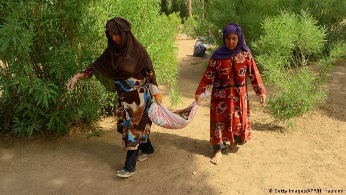 Afghanistan Frauen arbeiten in der Gartenpflege (Getty Images/AFP/H. Hashimi)