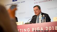 Pressekonferenz EZB-Chef Draghi in Riga