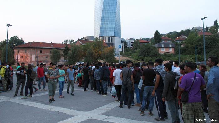 Migranten in Bosnien-Herzegowina (DW/Z. Ljubas)