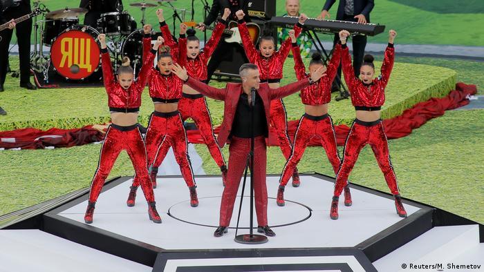 Russland, WM 2018 Eröffnungsfeier, Robbie Williams, Gruppe A - Russland - Saudi Arabien (Reuters/M. Shemetov)