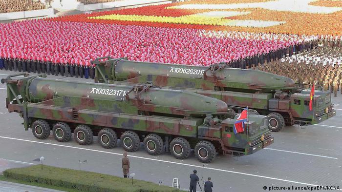 Ракеты на параде в КНДР