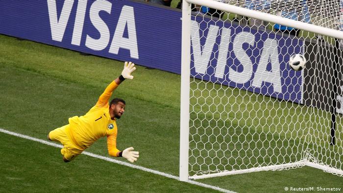 Russland, WM 2018: Russland-Saudi Arabien, Torhüter Abdullah Al-Mayouf beim 4:0