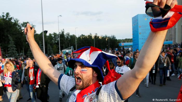 Russland, WM 2018: Russland Fans freuen sich über den Sieg (Reuters/G. Garanich)