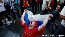 Soccer Football - World Cup - Group A - Russia vs Saudi Arabia - St. Petersburg, Russia - June 14, 2018 Russia's fans celebrate victory of their team after the match. REUTERS/Anton Vaganov