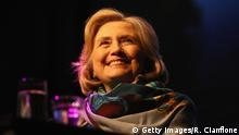 MELBOURNE, AUSTRALIA - MAY 10: Hillary Rodham Clinton speak during An Evening With Hillary Rodham Clinton at The Melbourne Convention and Exhibition Centre on May 10, 2018 in Melbourne, Australia. The former US Secretary of State and Democratic presidential candidate, who lost the 2016 US election to Donald Trump, is touring Australia and New Zealand speaking about being a women in politics. (Photo by Robert Cianflone/Getty Images)